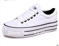 2013 free shipping to leisure sports shoes. Low help couples end of thick canvas shoes