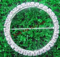 Round Diamond Ring/Diamond Buckle/Broach for chair sash\chair band\wedding decoration\spandex chair band
