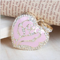 Crystal Heart Shaped USB Flash Drive Disk Necklace 8GB 16GB 32GB 64GB Free Shipping