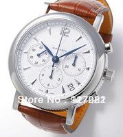 Free Shipping Automatic movement chronograph White Dial leather belt men's watch L2.704.4.16.2 + Original box+Wholesale