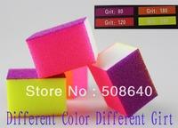 New 80/120/180/240 Girt Colors Nail Art Standing Buffer Block File 100pcs/lot 4way Salon Nals Care Tool Wholesale Freeship 555