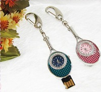 Free shipping real capacity 2GB 4GB 8GB 16GB 32GB Jewelry clock USB flash, CLOCK USB, usb memory
