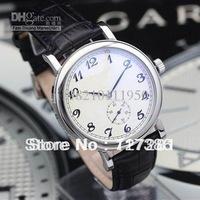 men mechanical watches automatic Calatrava Regulator black leather silver case luxury watch PP