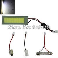 Free shipping 36 LED White LED High Bright COB Chips Interior Light Panel T10 Festoon Ba9s