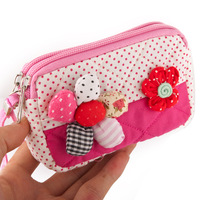 2013 cartoon bag clutch day clutch women's clutch bag  for apple   mobile phone bag coin purse cloth