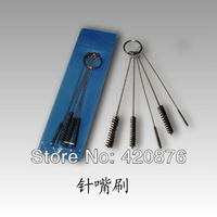 Free Shipping 20sets/LOT Tattoo accesories Cleaning cleaner Brush for tattoo machine gun Tip Grip Tube tattoo studio