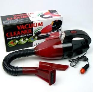 Free Shipping 10 Pcs/Lot With light car vacuum cleaner portable car vacuum cleaner car tv vacuum cleaner