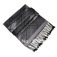 Min.order $15 free shipping ,New design elegant dark grey tone style square knitted scarf for men's ,NL-1833