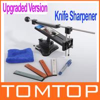 Freeshipping Upgraded Version Fixed-angle Knife Sharpener Professional Kitchen Knife Sharpener Kits System 4 Sharpening Stones