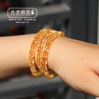Lucky natural brazil yellow crystal bracelet female