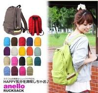 Multi-color candy casual backpack bag canvas bag man bag female bags student school bag unisex bag