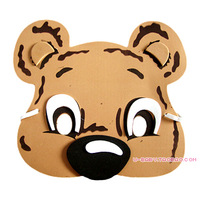 Hot Sales Bear mask child mask show props eva cartoon animal hair accessory