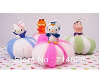 Cartoon small animal bath ball pumpkin bathsite bath rub child foam