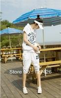 2013 New The Women's Sport Suit Clothing Sportswear Women Sports Set Summer Cotton twinset Sets top+pants Female