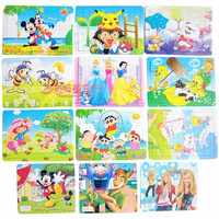 Free shipping  Cute cartoon paper jigsaw puzzles children's educational toys plane