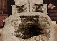 Animal bedding 100% cotton bedding four piece set wear-resistant print 3d three-dimensional oil painting