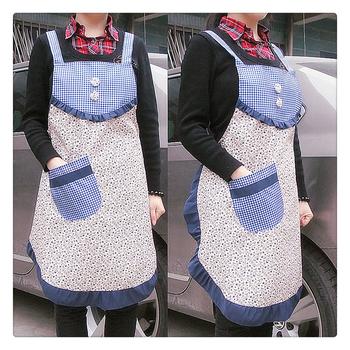 [20pcs/free ship] Fashion princess waterproof apron bibs oil  Domestic apron cotton Cloth aprons cotton supplier