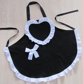 [20pcs/free ship] Aprons work wear princess lace apron  Domestic apron cotton Cloth aprons cotton supplier