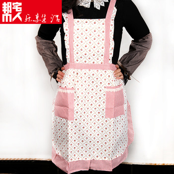 [20pcs/free ship] Fashion home aprons waterproof apron short-sleeve lace princess cartoon  Domestic apron supplier