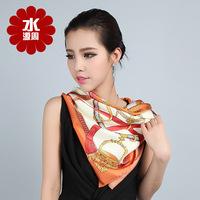 Scarf Women 2013 Summer 100% Pure Silk Scarf Mulberry Silk scarves Silk Screen Machine Size 88*88cm  Square Silk Scarves 1006