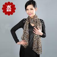 Scarf Women 2013 Summer 100% Pure Silk Scarf Mulberry Silk Scarves Leopard Print Long Design  Female Sun Cape Fashion Scarf