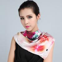 Scarf Women 2013 Summer 100% Pure Silk Scarf Mulberry Silk scarves Silk Screen Machine Magicaf Sie 88*88cm Flower Pattern