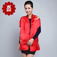 2013 Women Pure Silk Scarf Women 100% Silk Scarves For Dyeing Giant Silk Flowers Chinese Silk Scarf  Crochet Cape