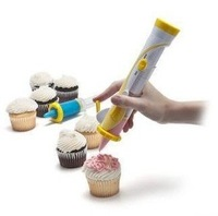Betty Crocker Free shipping battery-powered Cupcake decorating cakes Frosting Deco Pen set retail as seen on tv