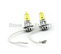 free shipping  H3 12V 55W halogen bulb rainbow yellow