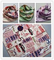 Silk stripe small slanting facecloth 100 35 3