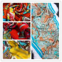 Cashew flowers etr classic beautiful color block wool scarf cape