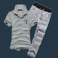 2013 summer Men men's clothing casual set male slim knitted sweatshirt sports set male