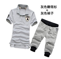 2013 summer shorts sports set t-shirt sports casual shorts harem pants male