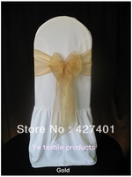 Gold Organza Bows  For Wedding Event &Party Decoration