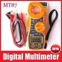 MT87 AC/DC Digital Clamp Electronic Tester Meter Tool Multimeter Voltmeter LCD Digital Clamp Meter Multimeter Free Shipping