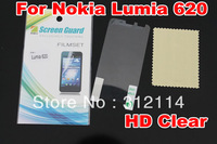 clear Screen Protector for Nokia Lumia 620 With Retail Package+30pcs/lot Free Shipping
