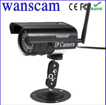 Wireless WiFi Outdoor Waterproof Black IR Night Vision IP Webcam Network CCTV Security Surveillance Camera IPcam Free Shipping