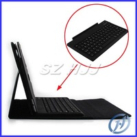 Foldable Bluetooth 3.0 Silicone Wireless Keyboard With PU Leather Case For Apple Ipad 1 2 3 Free shipping via DHL or EMS