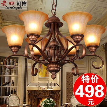 6 fashion pendant light living room lamps chinese style antique wrought iron pendant light lamps american bedroom lamp