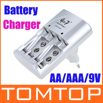 New arrival Ni-MH/Ni-Cd AA/AAA/ 9V Rechargeable Battery Charger battery pack charger free shipping