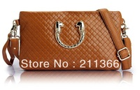 2013 New Best selling style 100% Genuine Cowhide leather fashion women handbags with Long Strap clutch bags Free shipping