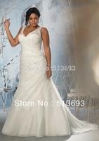 Fancy Beads Free Shipping 2013 Designer New Wedding Dress Plus Size