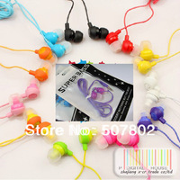 free shipping 1000pcs/lot Lose money promotion fruit earphone in ear headphones & headphones earphones+RETAIL BAGS