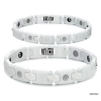 Lovers' Accessories fashion jewelry  magnetic health care anti fatigue  ceramic bracelet ws419 white
