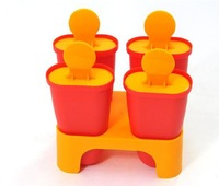 Free shipping diy ice cream mould Popsicle box simple ice cream tools 4pcs