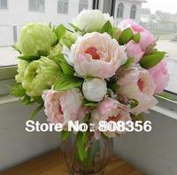 New Arrivals 45cm Legnth 7pcs Flower Heads Peony Bridal Bouquet Wedding Centerpiece Home Decoration Silk Artificial Flower