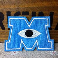 M Monsters University lron on patches  cloth attached exquisite embroidery clothes patch Appliques,wholesale 100pcs/lot