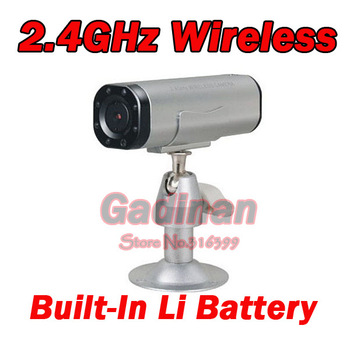 4-Channel 2.4G  Night Vision Wireless Color mini CCTV Camera Build-in Li-battery and Mic