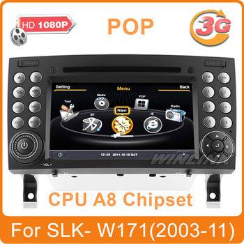 A8 Chipset 1GMHz 512MB car dvd for Mercedes Benz SLK W171 (SLK200, SLK280, SLK350, SLK55) Radio GPS Navi Player Support 3G WiFi