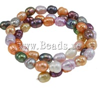 Free Shipping Mixed colors Rice Cultured Freshwater Pearl Beads 5-6mm, Hole:Approx 0.8mm, Length:Approx 15.5Inch